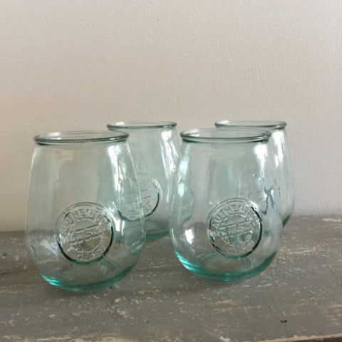 100% Recycled Glasses - Wine Goblet Tumblers