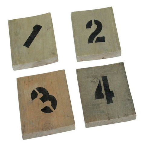 Numbered Reclaimed Wood Coasters