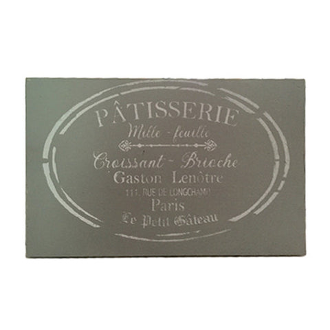 Patisserie Bistro Sign - Grey