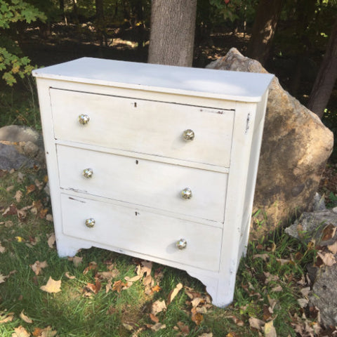 Distressed White Dresser