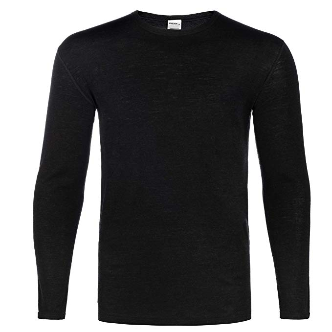STRECKEN Men's 75% Merino Wool Thermal Base Layer - Breathable - Midweight - Ideal for Hunting, Camping and Hiking