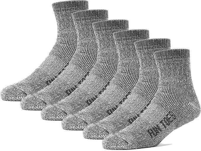 Women Merino Wool Ankle Socks Pack of 6 Arch Support and Cushioning Heel to Toe Reinforcement Ideal for Hiking