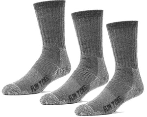 FUN TOES Women's 3 pairs Thermal Insulated 80% Merino Wool Socks -Hiking Trailing and Everyday Use