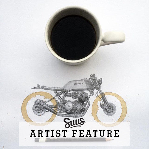 Motorcycle Illustrations by Artist Carter Asmann