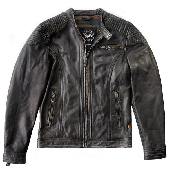 Suus 'The Smith' Leather Jacket – Brown - SUUS - 1