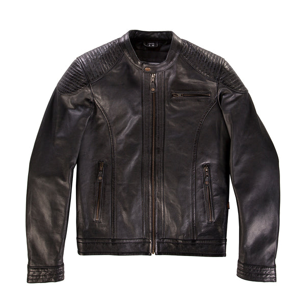 Suus 'The Smith' Leather Jacket – Black