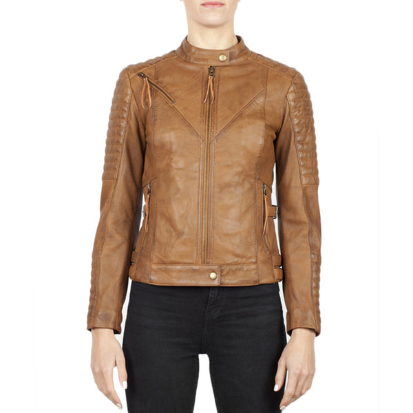 Black Arrow Wild and Free Tan Leather Jacket - SUUS - 1