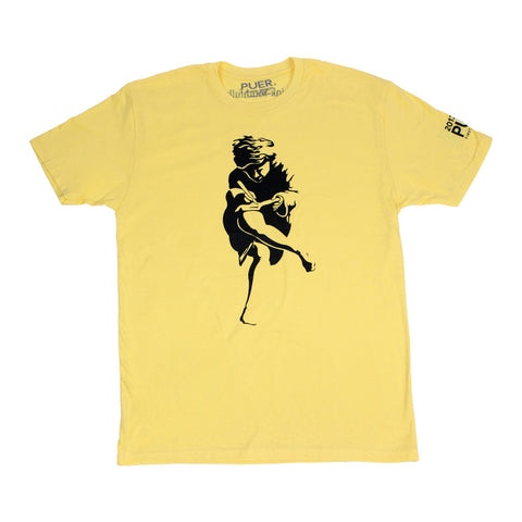 Athen Tee Shirt * Sun Cloud Yellow* - PUER BY NOEL BRONSON
