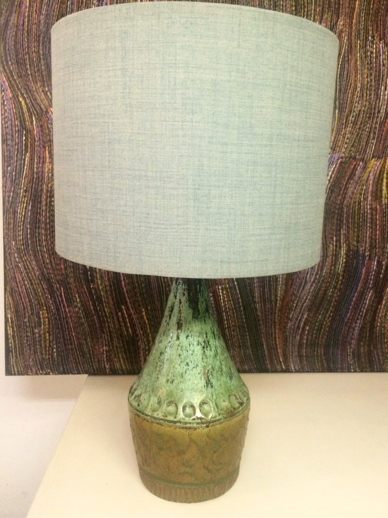 60s Italian Lamp Base and linen shade