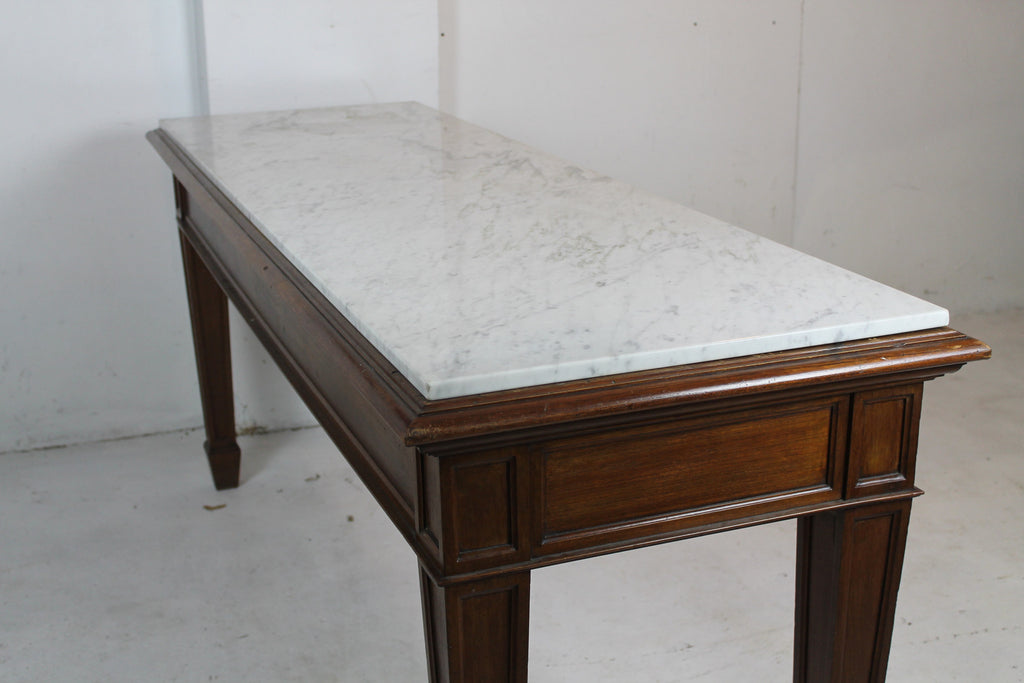 Antique Pastry Table   Marble Top