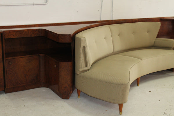 50s Custom built sideboard and curved lounge designed by George Reves and made by Gerstl