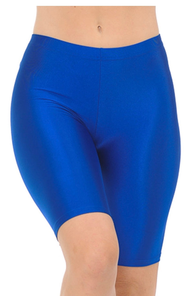 Heavy Biker Shorts- Blue