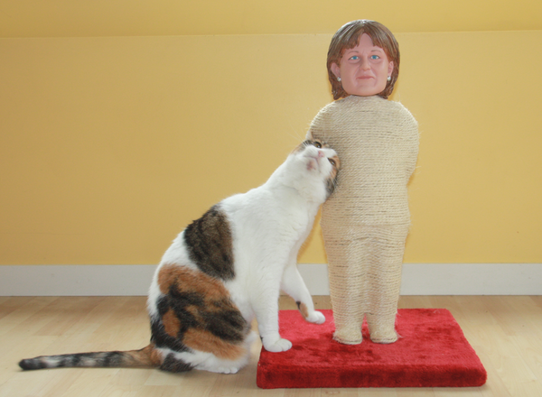 Line of Cat Scratching Posts Wants Your Cat to Scratch Liberal leader Christy Clark