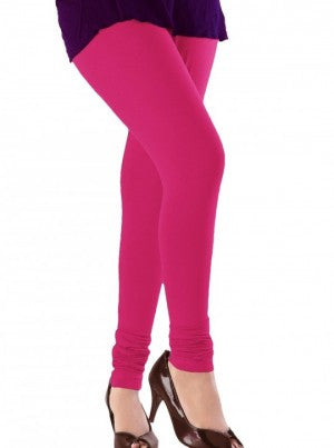 Claret Violet Cotton Lycra Stretchable Churidar Leggings - Barbaracute