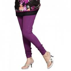 Purple Violet Cotton Lycra Stretchable Churidar Leggings - Barbaracute