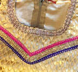 Pink & Yellow Net Readymade Lehenga Choli with Dupatta - Barbaracute - 3