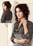 Grey Printed Readymade Cambric Cotton Anarkali Kurti - Barbaracute - 1