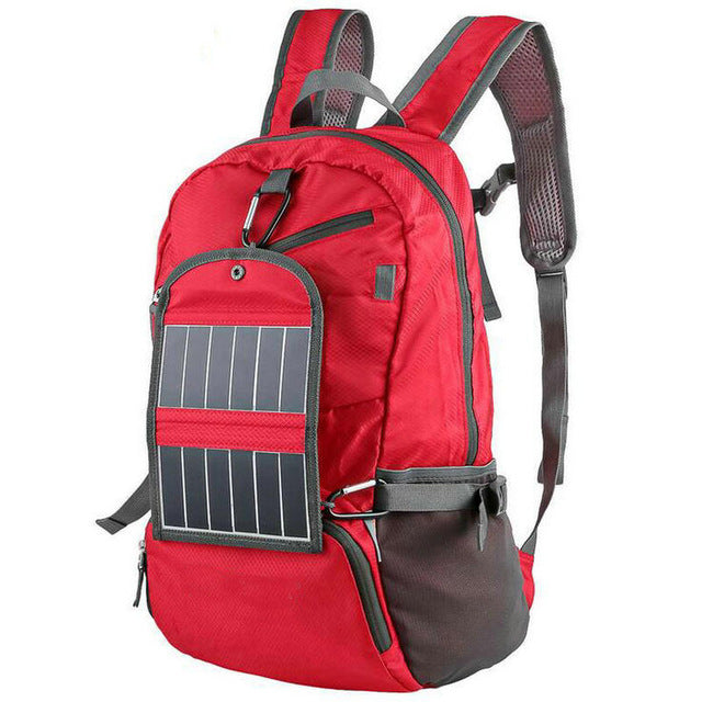 Outdoor Sport Solar Backpack With Power Bank
