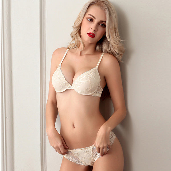 Sexy Lace Bra Set with Adjustable Underwear