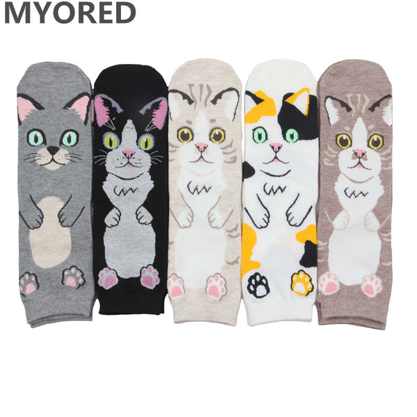 Cat Style Cute Women Socks - 5 pairs
