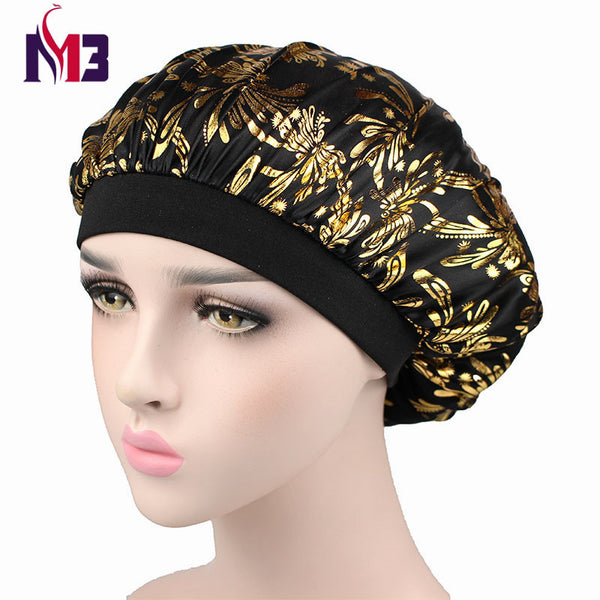Luxury Women Satin Sleeping Cap