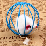 Mouse Ball Cage Cat Interactive Toy