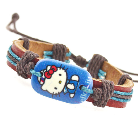 Hi Kitty Adjustable Leather Bracelet