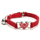 Rhinestone Heart Cat Safety Collar