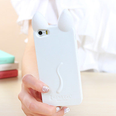 3D Cat Ears Cases For iPhones