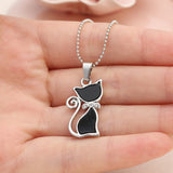 Rhinestone Cat Paw Pendant Necklace