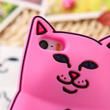 Fingers Up Cute Cat Cases For iPhones