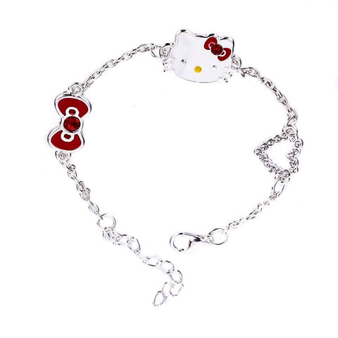 Hi Kitty Silver Tone Fashion Bracelet