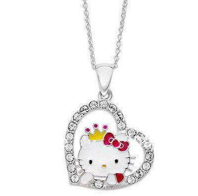Hi Kitty Heart Pendant Necklace