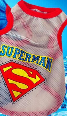 Breathable Superman T Shirt For Cats