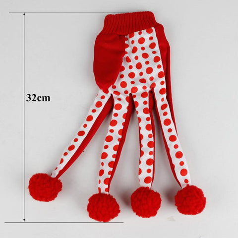 New Fashion Free Shipping Pet Products Lovely Ball Pet Funny Toy Cute Polka Dot Cat Toys Scratch Glove Toy Red Color