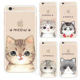 Cute Cat PC Hard Case Covers For iPhone Devices
