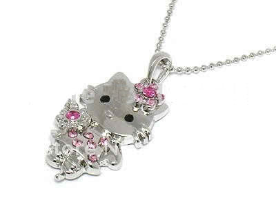 Hi Kitty Fashion Rhinestone Necklace