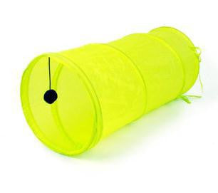 Small Foldable Tunnel Dangling Bell Toy Yellow