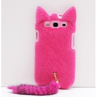 Cute Plush Tail Ear Cat Case for Samsung Galaxy S3 i9300 S4 S5