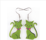 Cat Hoop Drop Fashion Earrings