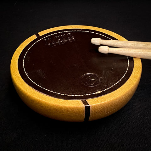 #6 TACKLE/SUGAR Percussion Coffee Table Practice Pad- YELLOWHEART/ MAPLE/ BLACK PALM