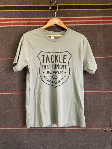 Tackle Instrument T-shirt- Badge/Army Green