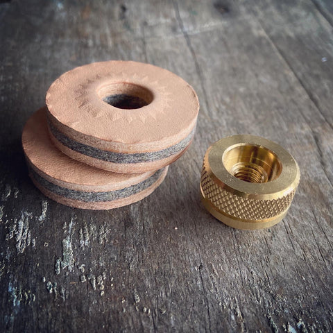 COMBO PACK- BRASS CYMBAL FASTENERS/ LEATHER FELT CYMBAL WASHERS