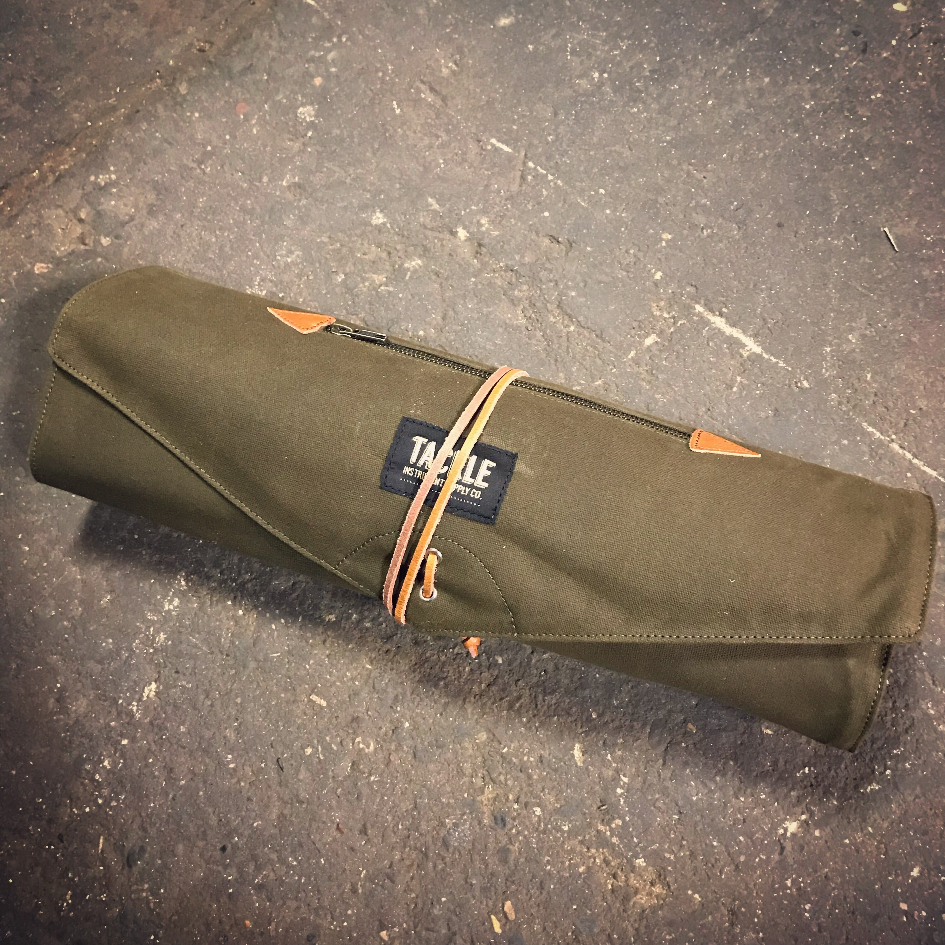 Waxed Canvas Stick Roll Up Bag Tackle Instrument Supply Co