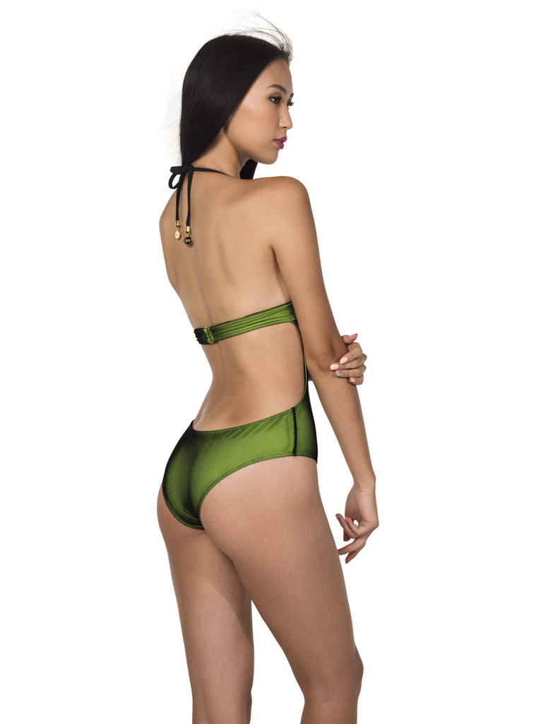 JALL! Tropical Breeze Elegant Mesh Monokini