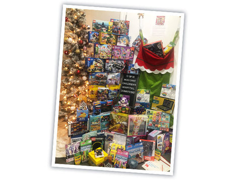 Toys collected for U of M Masonic Children's Hospital