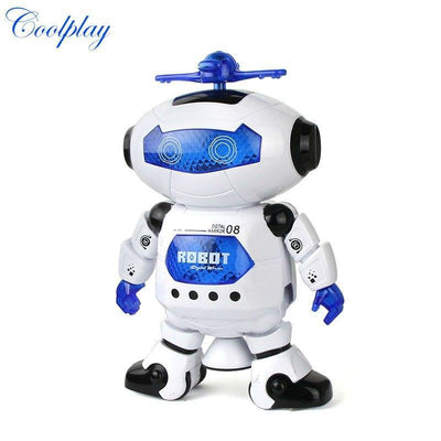 Action & Toy Figures 360 Rotating Smart Space Dance Robot Electronic Walking Toys