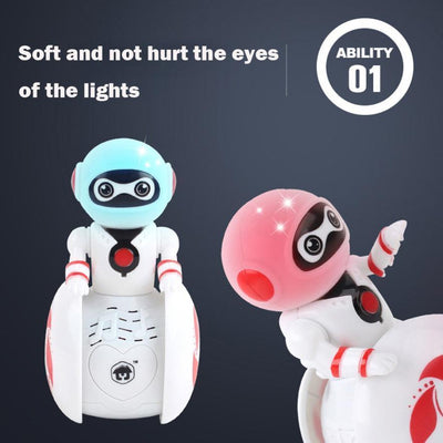 Action & Toy Figures HOT Mini Electronic Smart Bot Robot Astronaut Kids Music Light Toys
