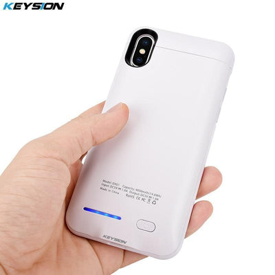 Battery Charger Cases 4000mAh Power Bank Case for iPhone X Ultra Slim Portable Charging External Backup