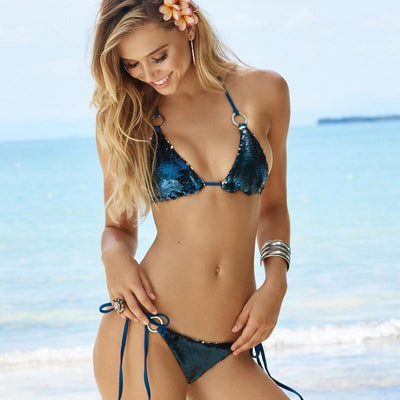 Bikinis Magic Color Sequin Bikini